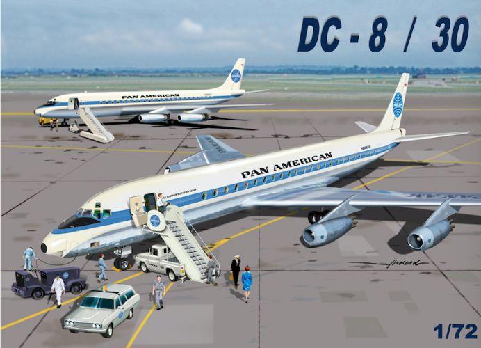 MACH 1/72 GP110PAA DOUGLAS DC-8/30 PAN AMERICAN