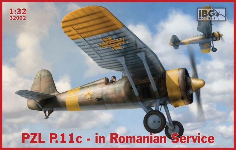 IBG MODELS 1/32 32002 PZL P.11C IN ROMANIAN SERVICE