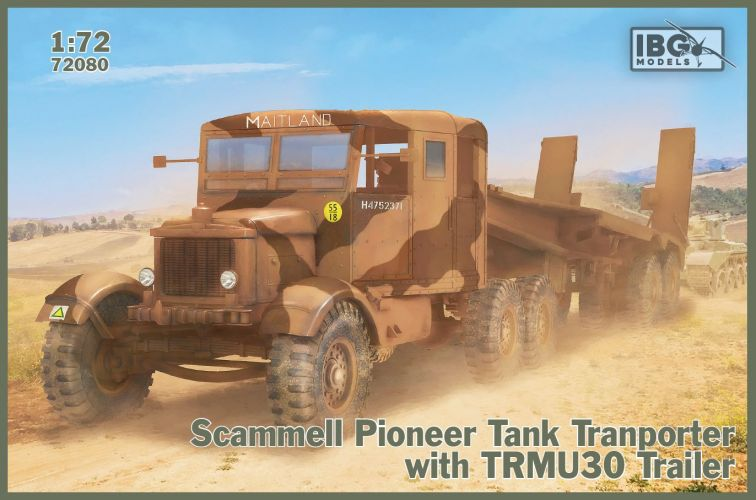 IBG MODELS 1/72 72080 SCAMMELL PIONEER TANK TRANSPORTER WITH TRCU30 TRAILER