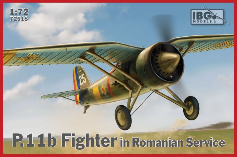 IBG MODELS 1/72 72518 PZL P.11B FIGHTER IN ROMANIAN SERVICE