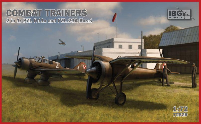 IBG MODELS 1/72 72529 COMBAT TRAINERS 2IN1 PZL P.11A   PZL.23A KARAS