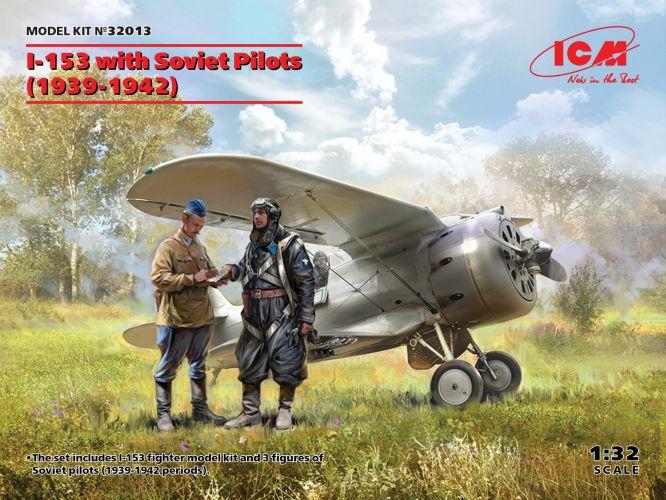 ICM 1/32 32013 I-153 WITH SOVIET PILOTS 1939-1942
