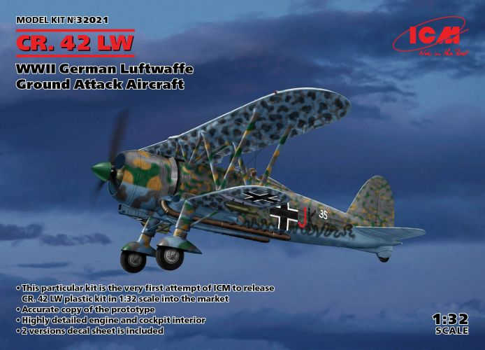 ICM 1/32 32021 CR.42 LW WWII GERMAN GROUND ATTACK AIRCRAFT