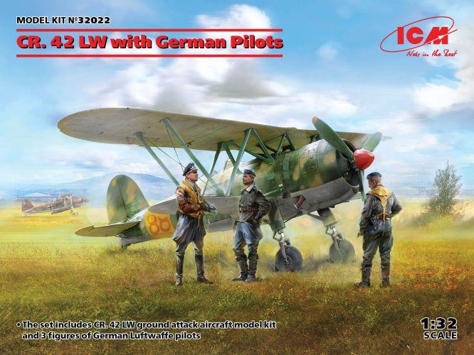 ICM 1/32 32022 CR.42 LW WITH GERMAN PILOTS