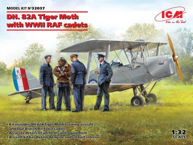 ICM 1/32 32037 de Havilland DH.82A Tiger Moth with WWII RAF cadets