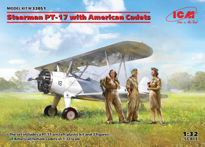 ICM 1/32 32051 STEARMAN PT-17 WITH AMERICAN CADETS