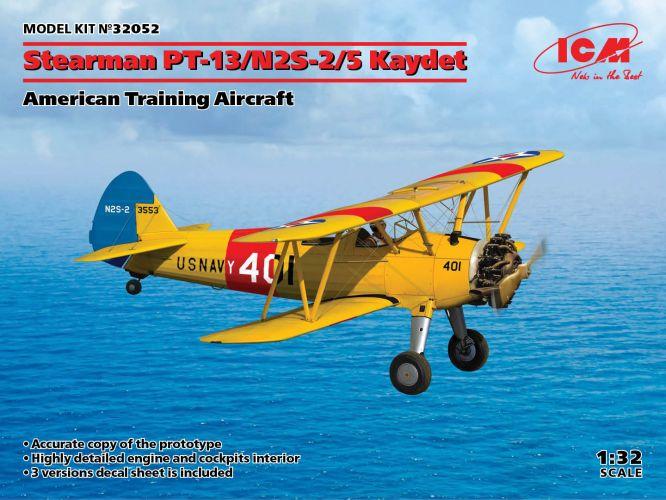 ICM 1/32 32052 STEARMAN PT-13/NS-2-2/5 KAYDET