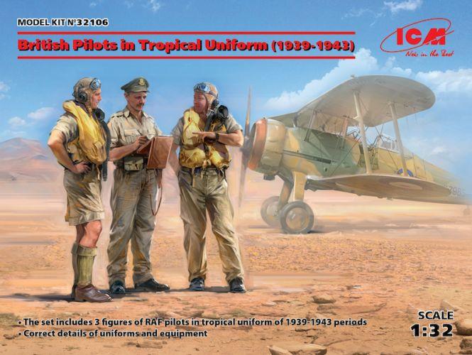 ICM 1/32 32106 BRITISH PILOTS IN TROPICAL UNIFORM
