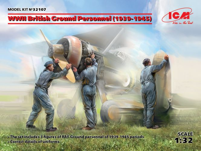 ICM 1/32 32107 WWII BRITISH GROUND PERSONNEL 1939-1945