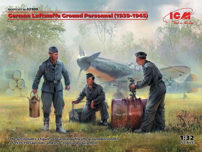 ICM 1/32 32109 GERMAN LUFTWAFFE GROUND PERSONNEL 1939-1945