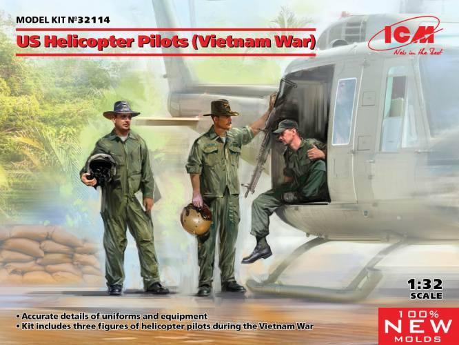 ICM 1/32 35114 US HELICOPTER PILOTS  VIETNAM WAR