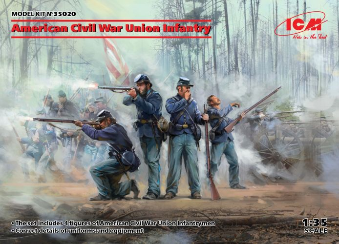 ICM 1/35 35020 AMERICAN CIVIL WAR UNION INFANTRY