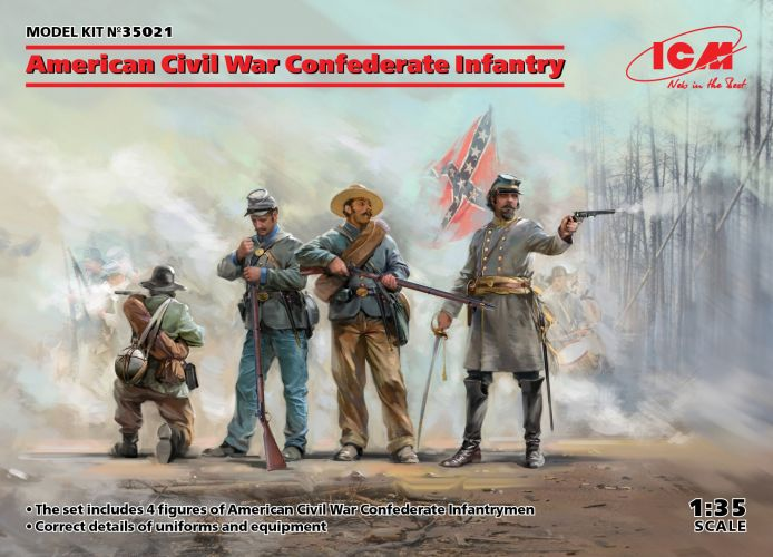 ICM 1/35 35021 AMERICAN CIVIL WAR CONFEDERATE INFANTRY