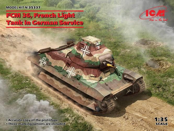 ICM 1/35 35337 FCM 36 FRENCH LIGHT TANK IN GERMAN SERVICE