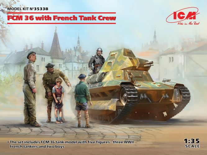 ICM 1/35 35338 FCM 36 WITH FRENCH TANK CREW