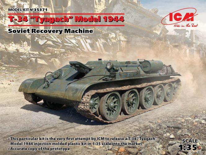 ICM 1/35 35371 T-34 TYAGACH MODEL 1944