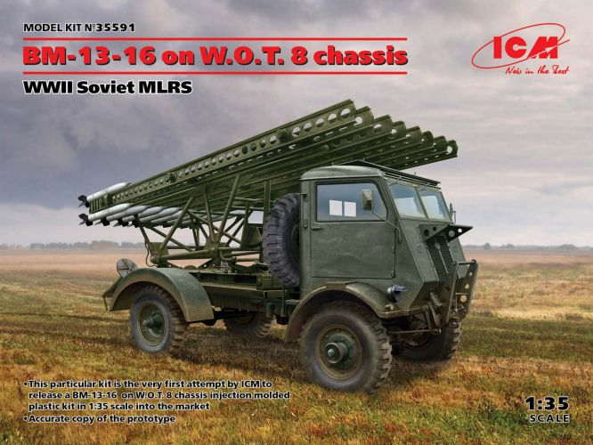 ICM 1/35 35591 BM-13-15 ON W.O.T.8 CHASSIS