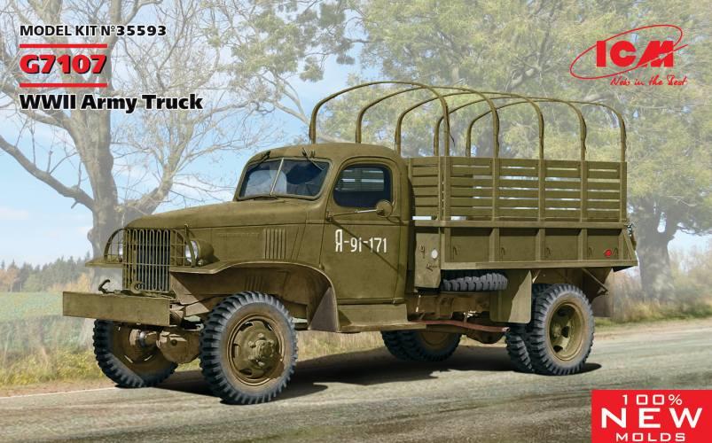 ICM 1/35 35593 G7107 WWII ARMY TRUCK