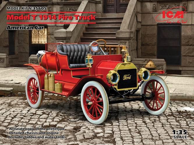ICM 1/35 35605 MODEL T 1914 FIRE TRUCK