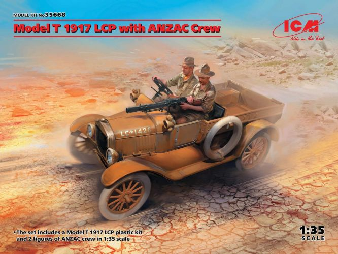 ICM 1/35 35668 MODEL T 1917 LCP WITH ANZAC CREW