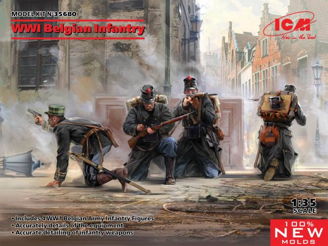 ICM 1/35 35680 WWI Belgian Infantry