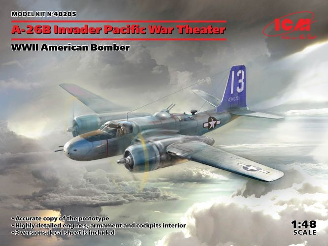 ICM 1/48 48285 A-26B INVADER PACIFIC WAR THEATER