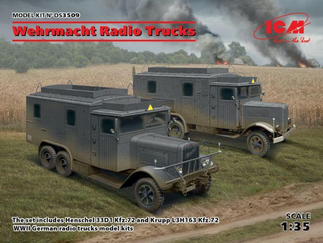 ICM 1/35 DS3509 WEHRMACHT RADIO TRUCKS