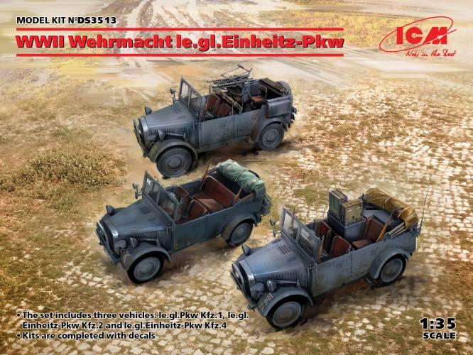 ICM 1/35 DS3513 WWII WEHRMACHT LE.GL.EINHEITZ-PKW