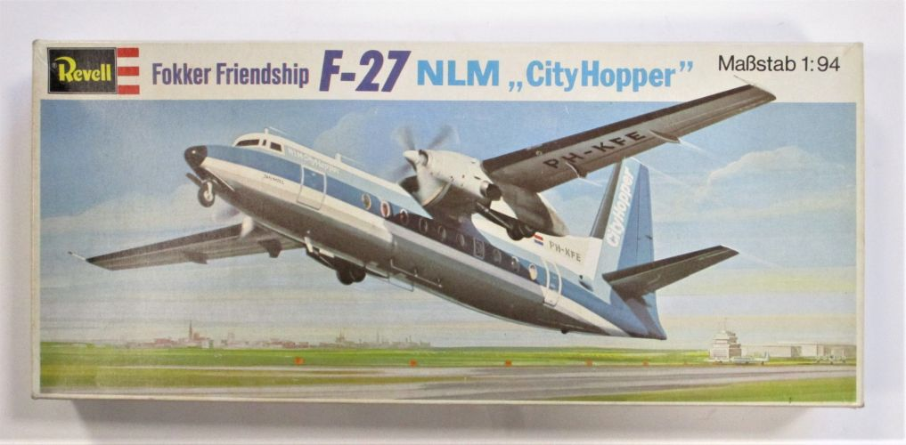 REVELL 1/94 H-102 FOKKER FRIENDSHIP F-27 NLM CITY HOPPER