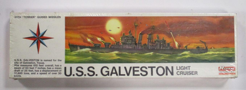 RENWAL 1/500 609 U.S.S. GALVESTON LIHGT CRUISER