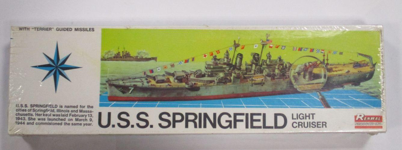 RENWAL 1/500 602 U.S.S. SPRINGFIELD LIGHT CRUISER