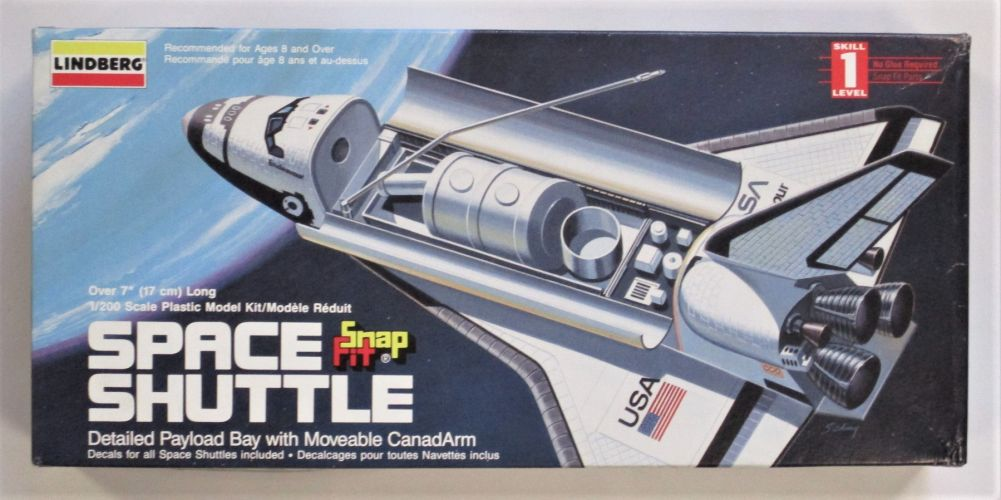 LINDBERG 1/200 72566 SPACE SHUTTLE MOVEABLE CANADARM SNAP FIT