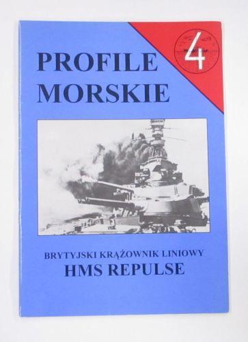 CHEAP BOOKS  ZB3471 PROFILE MORSKIE 4 HMS REPULSE  POLISH TEXT