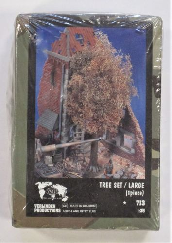 VERLINDEN PRODUCTIONS 1/35 713 TREE SET/LARGE  1PIECE