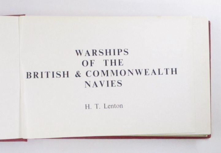CHEAP BOOKS  ZB3465 WARSHIPS OF THE BRITISH AND COMMONWEALTH NAVIES H. T. LENTON