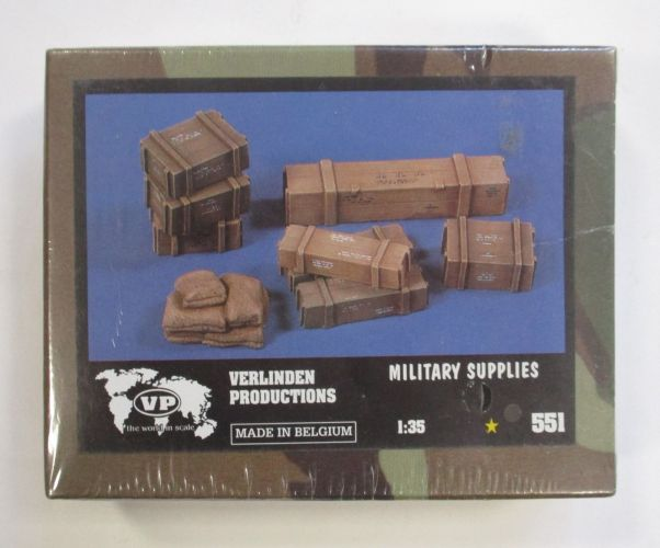 VERLINDEN PRODUCTIONS 1/35 551 MILITARY SUPPLIES