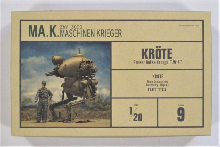 NITTO 1/20 24109 KROTE PANZER AUFKALARUNGS T.W-47 MASCHINEN KRIEGER  SCIENCE FICTION
