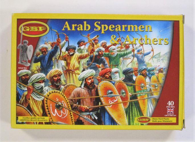 GBP  ARAB SPEARMEN AND ARCHERS 28MM