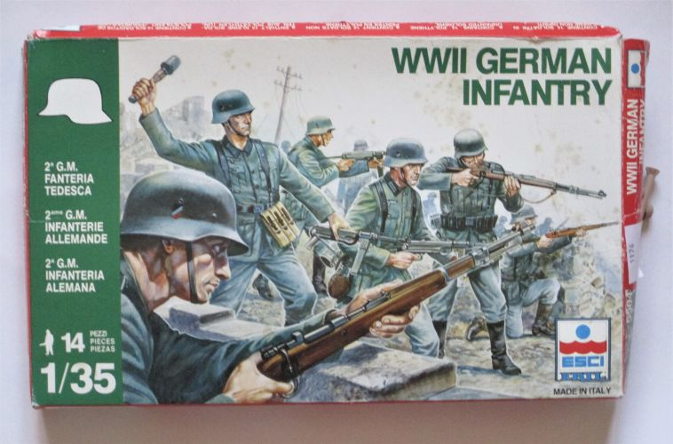 ESCI 1/35 5504 WWII GERMAN INFANTRY