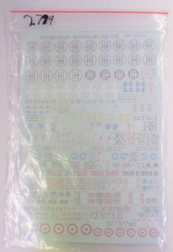 SKY MODELS 1/72 2779. 72014 MACCHI MC 202