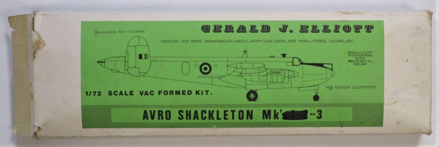 GERALD J ELLIOTT 1/72 AVRO SHACKLETON MK 3