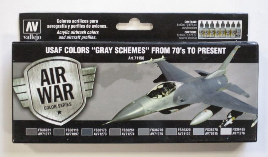 VALLEJO  71156 USAF COLORS GRAY SCHEMES FROM 70S TO PRESENT