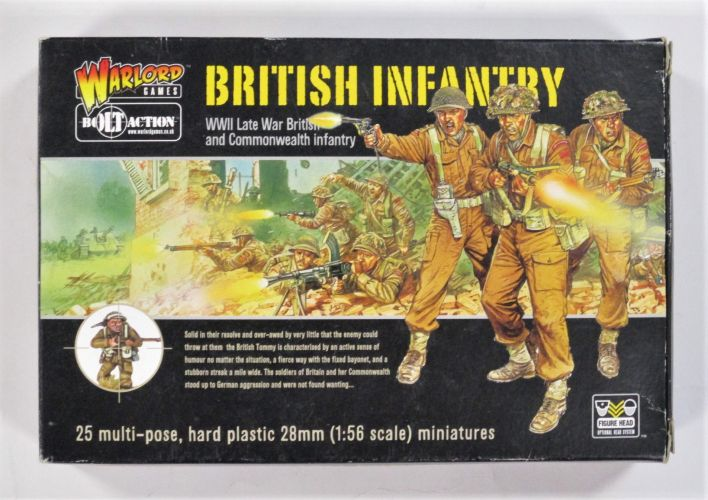 WARLORD  BRITISH INFANTRY WWII LATE 28MM
