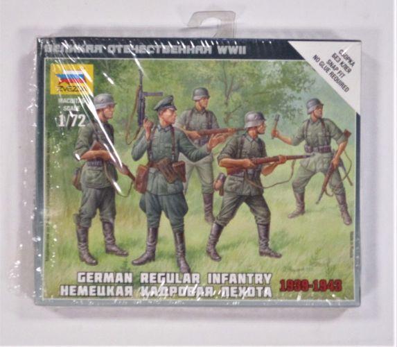 ZVEZDA 1/72 6178 GERMAN REGULAR INFANTRY 1939-1943