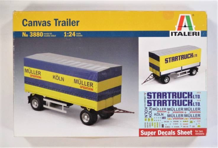 ITALERI 1/24 3880 CANVAS TRAILER STARTRUCK MULLER KOLN