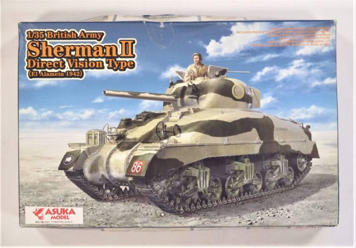 ASUKA MODEL 1/35 35-014 SHERMAN II DIRECT VISION TYPE EL ALAMEIN 1942