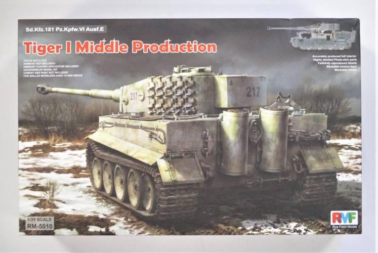 RYE FIELD MODEL 1/35 5010 TIGER I MIDDLE PRODUCTION SD.KFZ.181 PZ.KPFW.VI AUSF.E