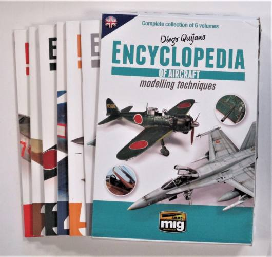 CHEAP BOOKS  ZB3623 MIG JIMENEZ ENCYCLOPEDIA OF AIRCRAFT MODELLING TECHNIQUES FULL SET 1-5 PLUS F-16 SPECIAL VOL  UK SALE ONLY