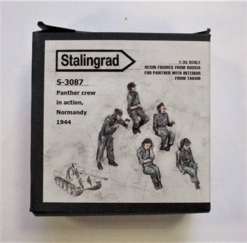 STALINGRAD 1/35 S-3087 PANTHER CREW IN ACTION NORMANDY 1944