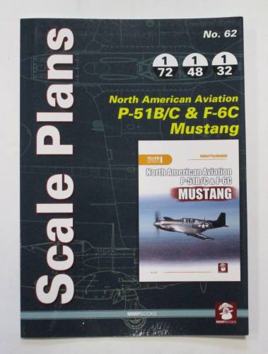 CHEAP BOOKS  ZB3755 SCALE PLANS NO. 62 NORTH AMERICAN AVIATION P-51B/C AND F-6C MUSTANG